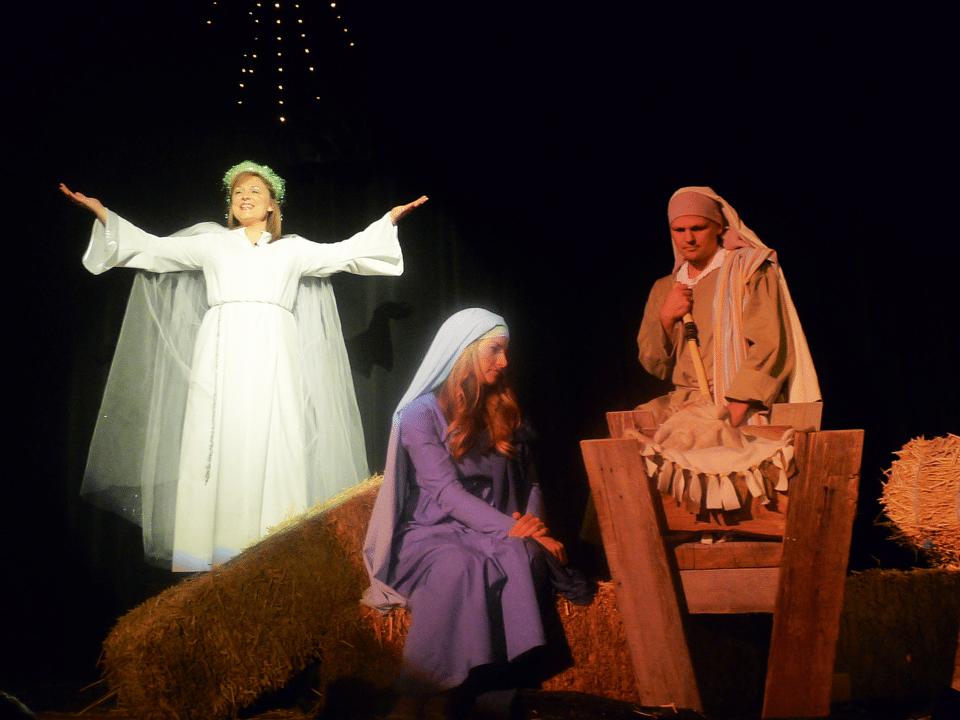 Festival, parade, nativity and play