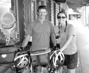 Sitting in a wooden chair outside the Brandin' Iron Café in Caliente, world cyclist Bethany Garth looked tired.