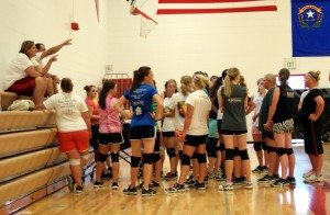 The Lincoln County High volleyball team is hard at work preparing for the 2013 Division III volleyball season.