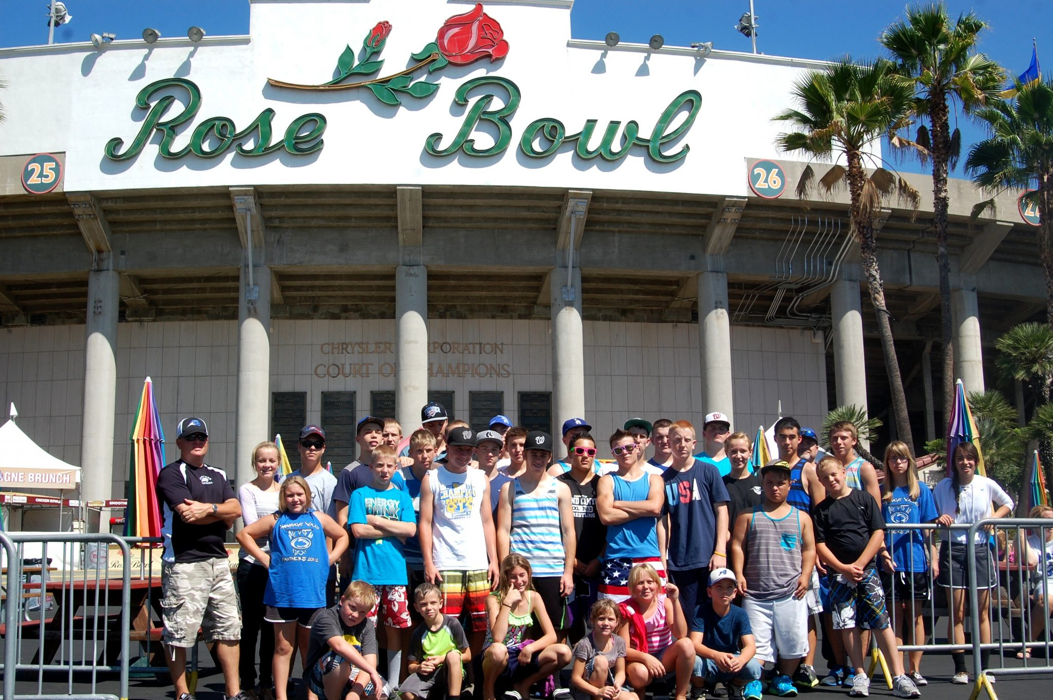 Panther football team visits historic Rose Bowl