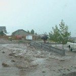 Monsoon like wind and rain struck Pioche Aug. 30, just as their annual Labor Day celebration was getting underway.