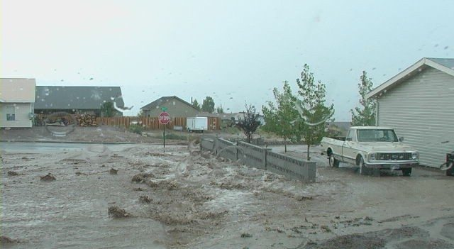 Pioche hit by monsoon rains