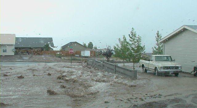 Pioche hit by monsoon rains
