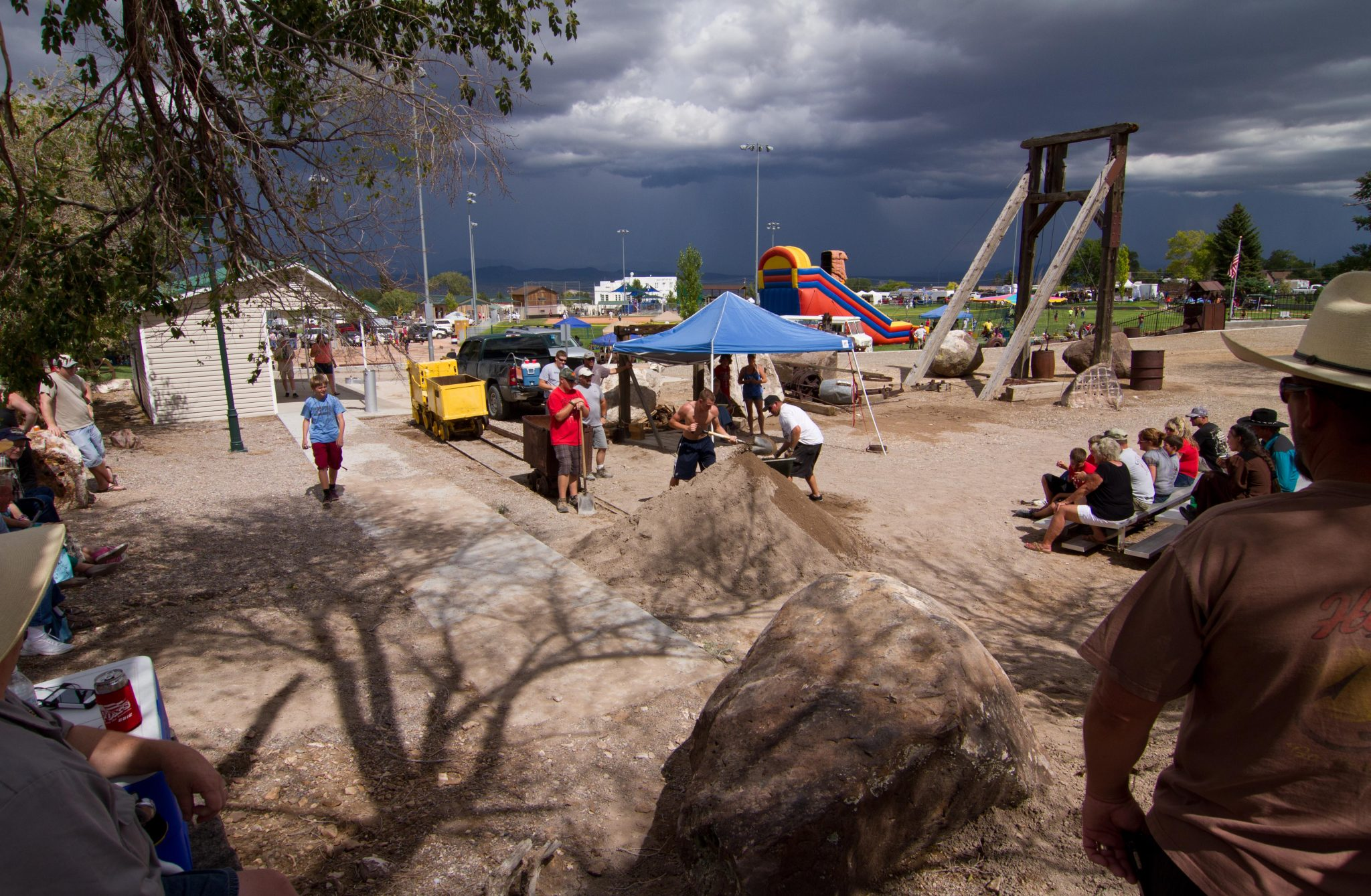 Pioche celebrates Labor Day in the rain