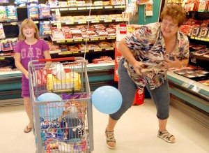 Sharon Marich was the recipient of a shopping spree at Great Basin Foods in Alamo Sept. 30.