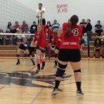 The Lincoln County High School volleyball team hosted the Pahranagat Valley High School Panthers in a non-league best-of-five match at the