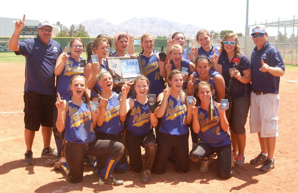 Pahranagat Valley girls 2013  Division IV state softball champions. The girls won their first title since 2008. (Dave Maxwell Photo)