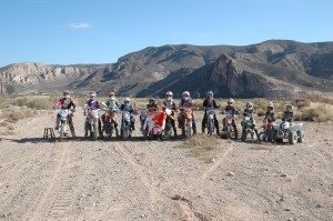 Damon Livreri, a local 12-year-old motorcycle rider, organized a memorial ride for fallen motorcyclist Kurt Caselli, who died at the Baja 1000 ride a couple weeks ago
