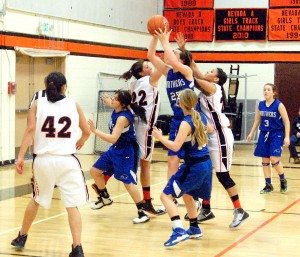 The opening of the league season for the Pahranagat Valley High girls basketball team was a laugher against league newcomer Word of Life Jan. 10.