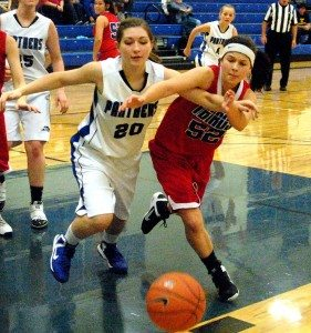 """After three games in three days Pahranagat Valley High girls basketball  coach Amy Huntsman said her team was """"exhausted."""" But the girls still managed to win"""