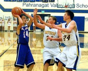 The Pahranagat Valley High boys basketball team had both a non-league game and league game last week and came away with a 1-1 record.