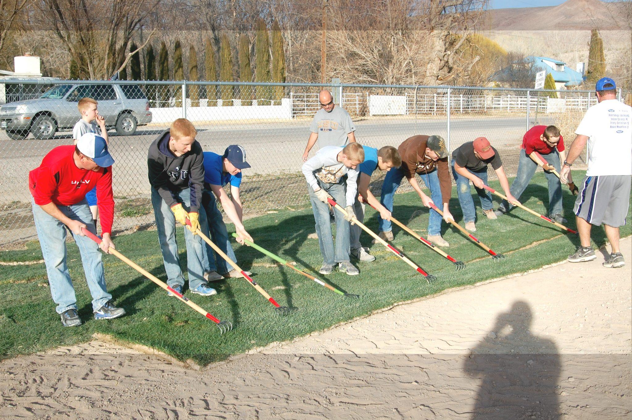 Pahranagat Valley High football field gets facelift
