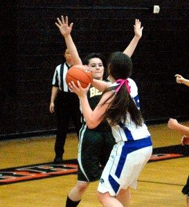 The Pahranagat Valley High girls basketball team played sharp defense and used an opportunistic offense to rout Tonopah, 54-29 in the league tournament