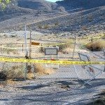 The gate entering Little Ash Springs was smashed sometime last week, according to Bureau of Land Management Caliente Field Office manager Victoria Barr.
