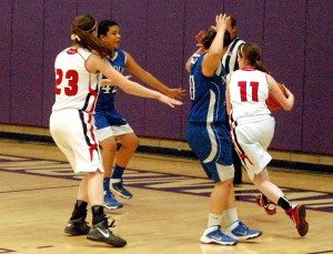 Two losses to the Needles Mustangs during the regular league season maybe phased the Lincoln County girls basketball team to some degree as they faced off