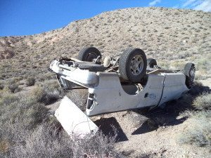 Nevada Highway Patrol responded to two rollover accidents on different roads earlier this month.