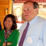 Dan Schwartz, Republican candidate for Nevada State Treasurer visited at the Windmill Ridge in Alamo May 14.
