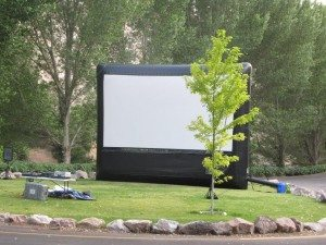 A similar version of the proposed outdoor movie theater was used last year at Kershaw-Ryan State Park movie night.