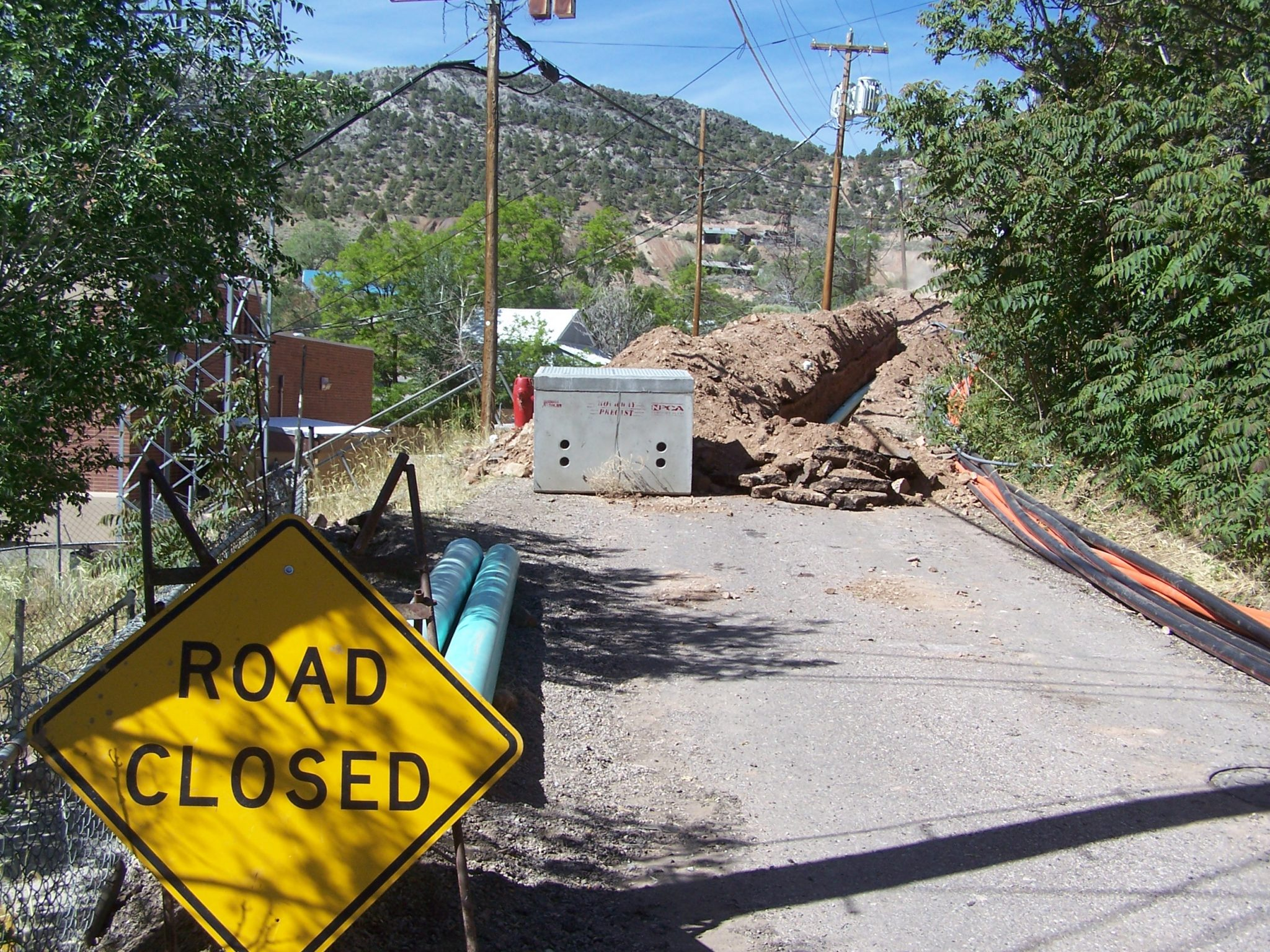 Pioche road construction moving right along