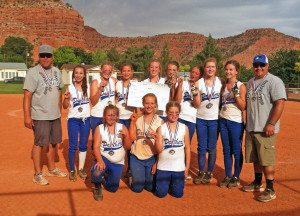 Pahranagat Valley's Middle School girls softball team did it the hardest way possible at the Heat Stroker 14-and-under softball tournament in Kanab, Utah June 13-14.