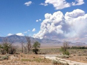The Bear Trap and Hampton fires yesterday increased in size, aided by higher temperatures and lower humidity. The BLM office emphasizes that