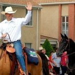 U.S. Senator Dean Heller (R-NV) and his wife Lynne, participated in the Sesquicentennial celebration in Panaca last week, rode their horses in the parade