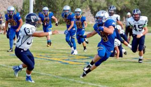 Pahranagat Valley dominated Virginia City from the outset, piling up 30 points in each quarter.