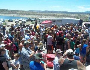 LCR file photo Crowds gather at the Echo Reservoir for one of the fishing tournaments last year.