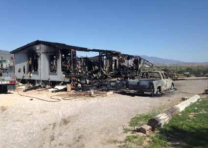 Fire destroys Panaca home