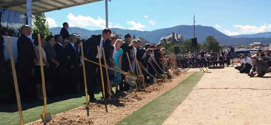 Local leaders help break ground on new temple Cedar City