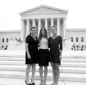 From left: Janel Meldrum, Savannah Harr and Chesnee Harding on the Lincoln County Power District National Rural Electric Cooperative Association Youth Tour in Washington D.C.  Meldrum was later the Nevada representative to the NRECA national convention in Washington, and won second place for her speech.