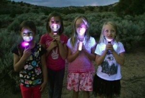 A group set off on a scorpion hike Saturday evening at Echo Canyon State Park. Participants were provided ultraviolet lights and were amazed at the number of scorpions they found.