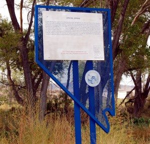 Dave Maxwell New historical markers have been placed at Pahranagat Valley and Crystal Springs.