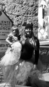 Marie Mason Two attendees showing off their costumes at the 2015 Halloween Ball put on by the Caliente Community Methodist Church.