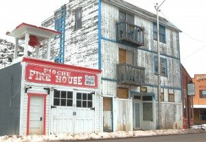 Dave Maxwell An old apartment building is shown in Pioche where the story of Shorty and Snow White took place.
