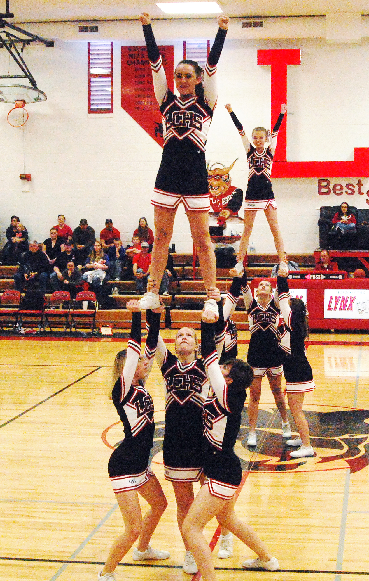 LCHS cheerleaders turning heads