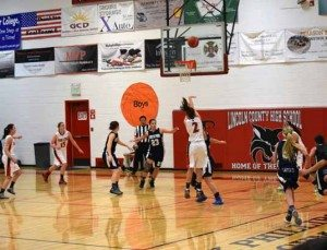 Courtesy photo The Lincoln County High School girls basketball team remains undefeated in league play and is 20-2 overall.