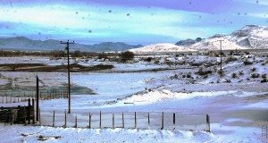 Dave Maxwell Pahranagat Valley fields and pastures after Monday's snowstorm looking along North Richardville Road. The storm left behind as much as up to 18 inches in some areas across the county.