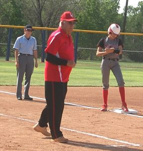 Pat Kelley closes out a fine softball coaching career at Lincoln County High. He had two state championships and was runner-up three times. Dave Maxwell Photo.
