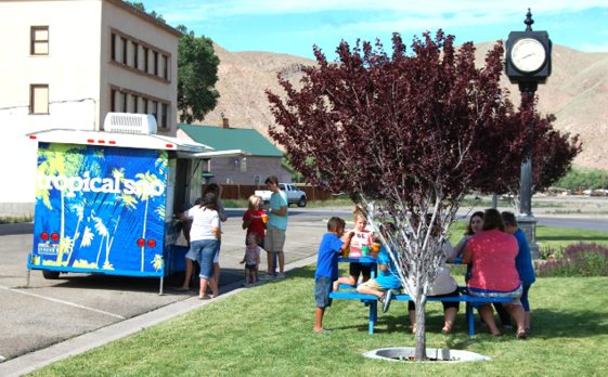 Dave Maxwell -  Locals enjoyed a temporary break from the heat with snow cones on a hot day in Caliente this week. Temperatures were in the upper 90's the last few days and are expected to climb into triple digits in parts of the county beginning Sunday.