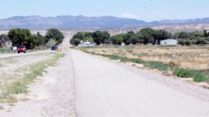 Dave Maxwell -  Bike paths, like this one leading into Panaca, are being planned for Alamo, Caliente, Pioche and more in Panaca by the Nevada Department of Transportation Bicycle and Pedestrian Program.