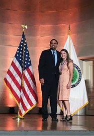 Courtesy photo - Brook Higbee receiving her U.S Presidential Scholar medallion from Secretary of Education John. B. King Jr.