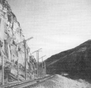 Building the Railroad Through the Rainbow Canyon