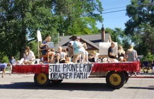 Courtesy photo -  The Horlacher family had the winning float at the Panaca Pioneer Day Parade last Saturday.