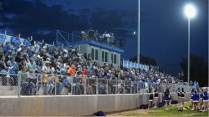 A near capacity crowd at turned out at Panther Alumni Stadium to watch Pahranagat Valley take on Thacher.