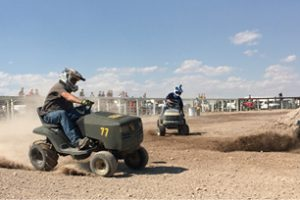 Sarah Somers -  The lawn mower race was a crowd favorite.