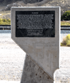 Dave Maxwell - A monument commemorating the 1910 Caliente flood  is located at the south end of Railroad Park