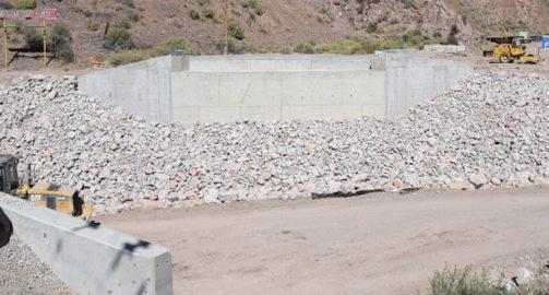 Dave Maxwell - Current status of the bridge leading to the Caliente Youth Center. The Nevada Department of Transportation expects to have it completed by January.