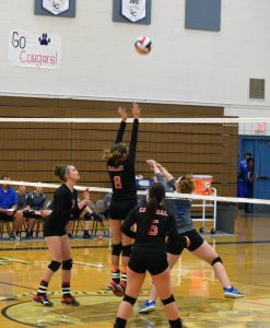 Courtesy Photo - Lincoln?s volleyball team defeated Laughlin last Friday.