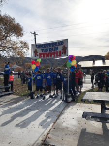 Courtesy photo Over 120 contributed either through sponsorship or participation in the Gingerbread Fun Run in Caliente on Saturday.